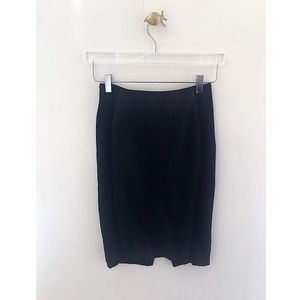 karen millen / black panel pencil skirt